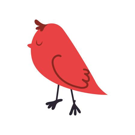 Cute birdie cartoon icon vector illustration graphic design Illustration