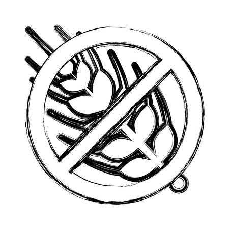intolerancia: Gluten free food icon vector illustration graphic design