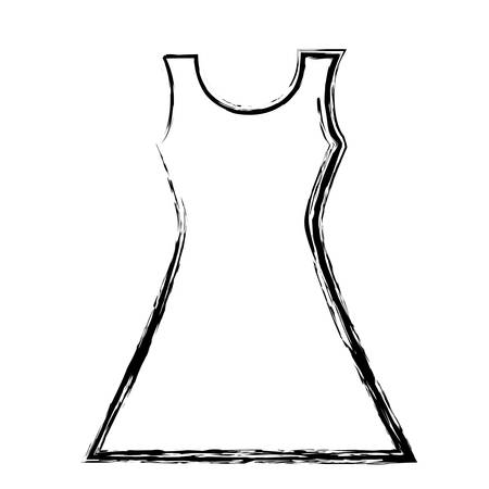 woman lady blouse fashion vector store icon