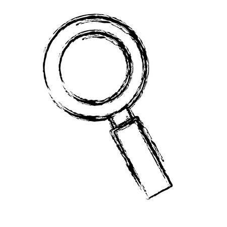 magnifying glass icon over white  background. vector illustration Illustration