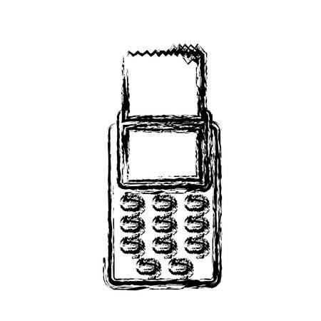 investment concept: dataphone device icon over white background. vector illustration Illustration