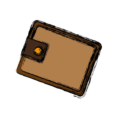 attache: wallet accessory icon over white background. vector illustration