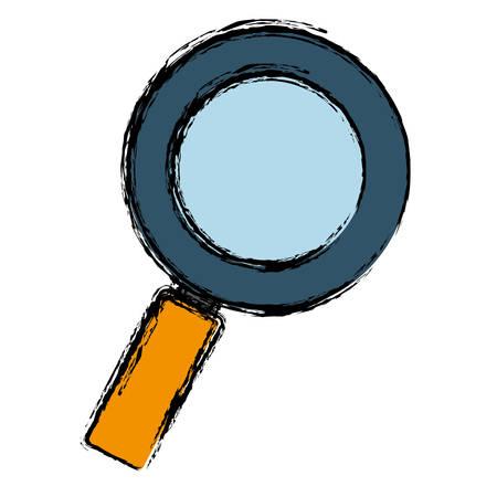 examine: magnifying glass icon over white  background. vector illustration Illustration