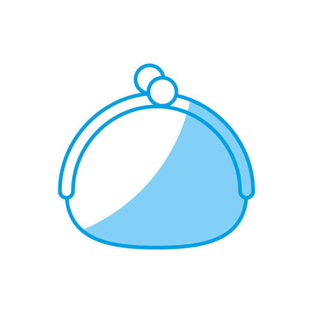 investment concept: purse accessory icon over white background. vector illustration