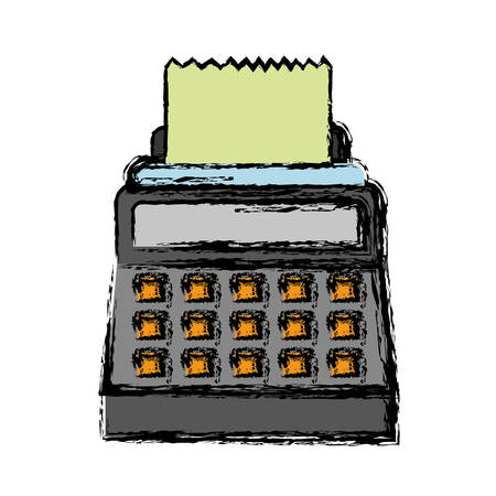 investment concept: cash register icon over white  background. vector illustration