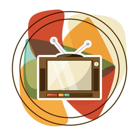 retro entertainment television technology, vector illustration design