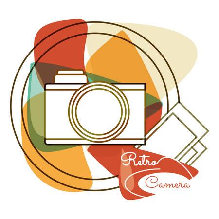 retro camera pictures design image, vector illustraion