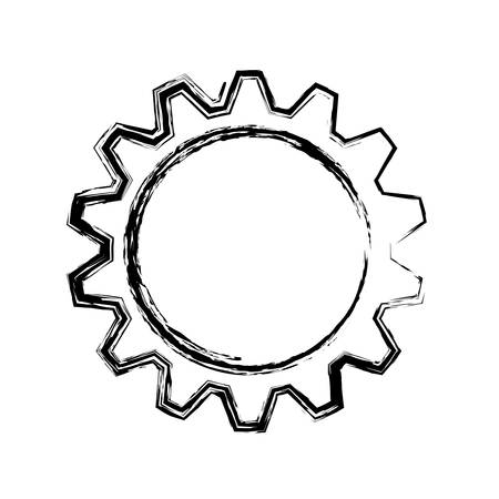 Gear machinery piece icon vector illustration graphic design Vector Illustration