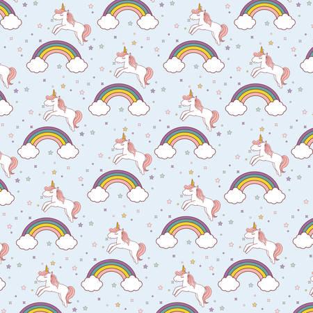 unicorns and rainbows background. colorful design. vector illustration