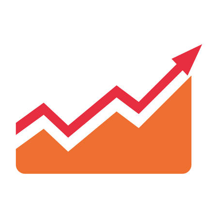 investment concept: Arrow up increase icon vector illustration graphic design