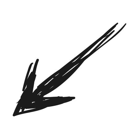 Arrow scribble isolated icon vector illustration graphic design