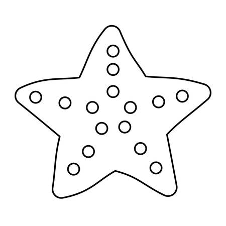 Sea star icon over white background. Illustration