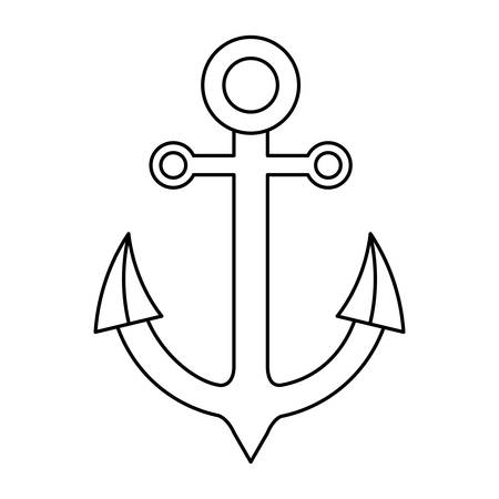 Anchor icon over white background.