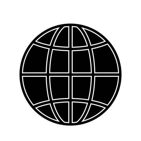global connection icon over white background. vector illustration Illustration