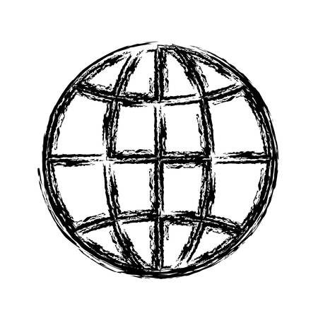 parallel world: global sphere icon over white background. vector illustration