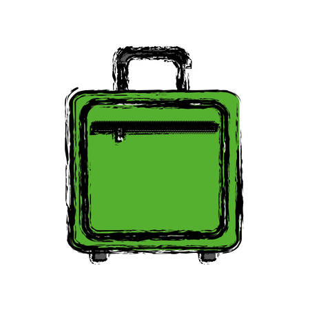 travel suitcase icon over white background. vector illustration