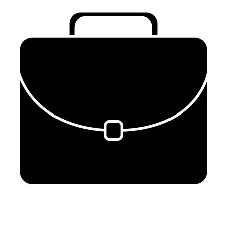 business briefcase icon over white background. vector illustration