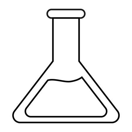 poison bottle: chemical flask icon over white background. vector illustration
