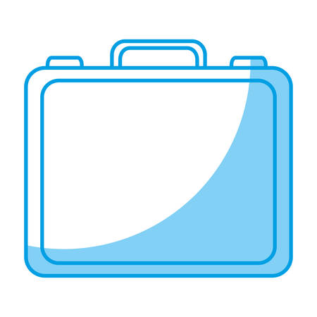 attache: A business briefcase icon over white background. vector illustration