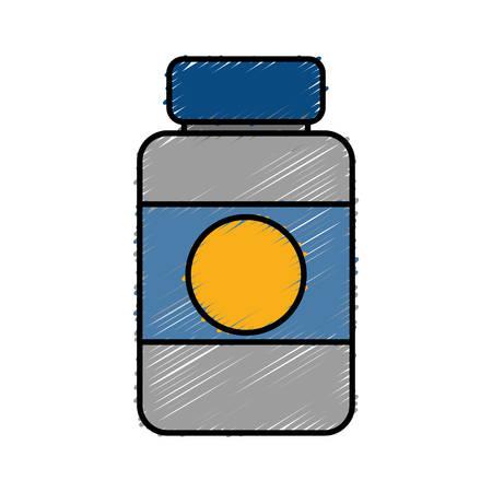A medicine bottle icon over white background. vector illustration
