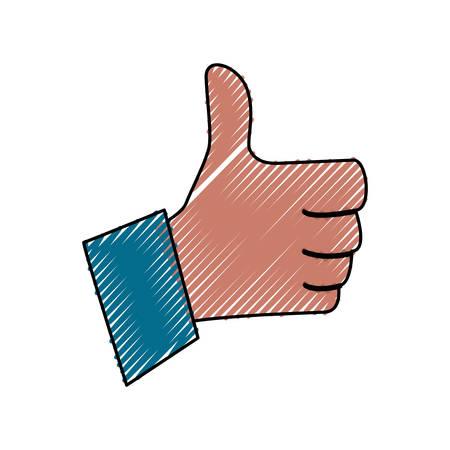 Thumb up like symbol Illustration