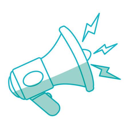 Bullhorn advertising symbol Stock Vector - 77473544