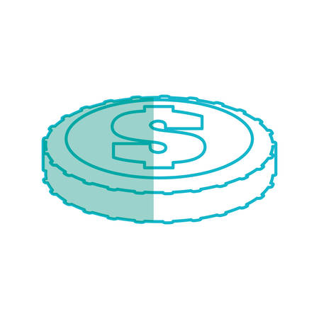 Money coin isolated Illustration