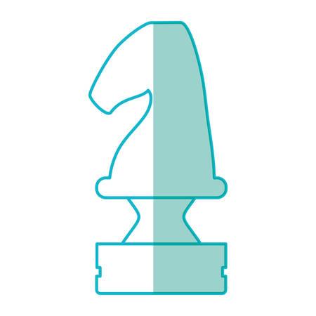 chess board: Chess chorse piece Illustration