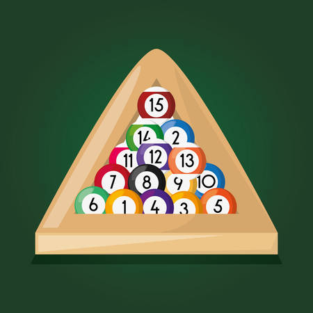 pool billiard hobby play game, vector illustration Illustration