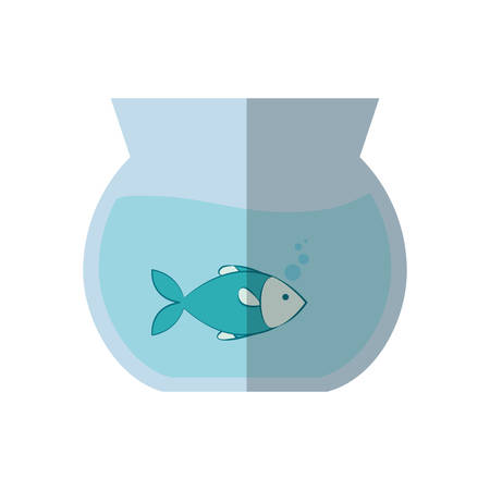 bowl with fish icon over white background. vector illustration Illustration