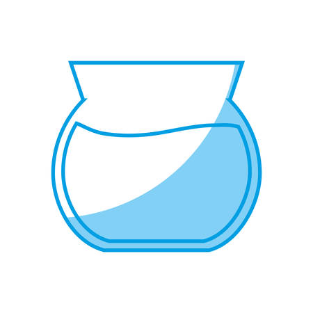 fishbowl icon over white background. vector illustration Illustration