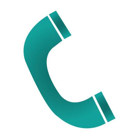 phone handset icon over white background. vector illustration