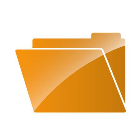 document folder icon over white background. vector illustration Illustration