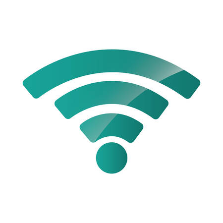 wifi sign icon over white background. vector illustration Illustration