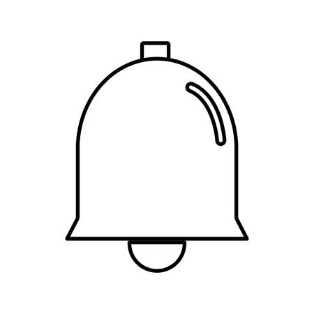 ring tones: bell icon over white background. vector illustration