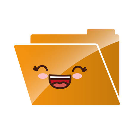 documents folder icon over white background. vector illustration Illustration