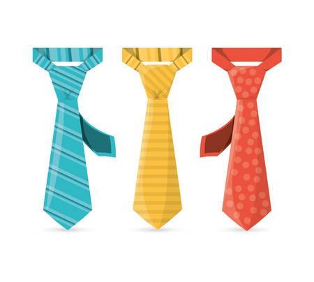 specials: elegants ties to used in specials days, vector illustration Illustration
