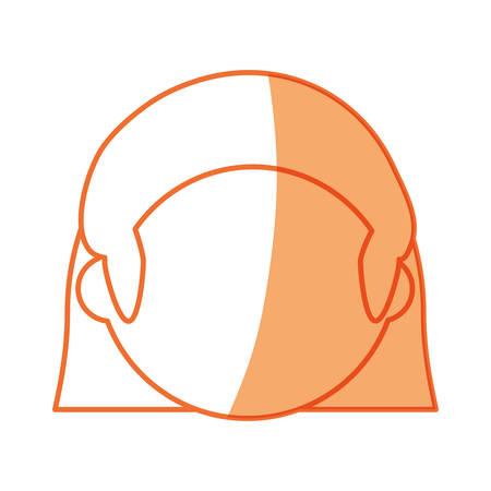 Woman faceless head icon vector illustration graphic design Illustration