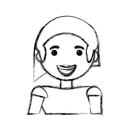 hapiness: Woman smiling cartoon icon vector illustration graphic design