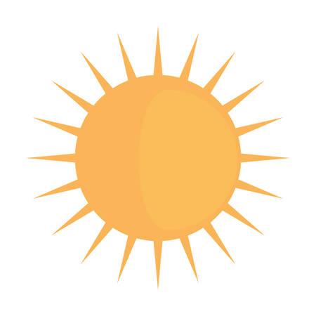 Sun shinning symbol icon vector illustration graphic design Ilustração