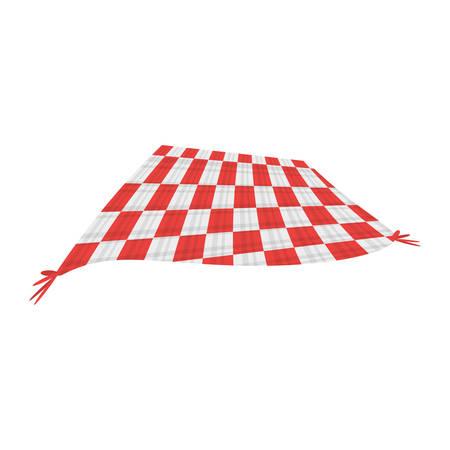 ピクニック ブランケット絶縁アイコン ベクトル イラスト グラフィック デザイン