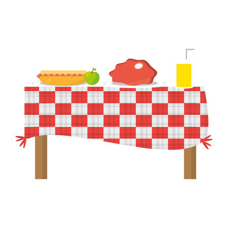 Picnic delicious food icon vector illustration graphic design