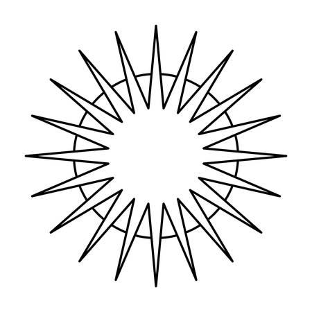 Sun shinning symbol icon vector illustration graphic design Illustration