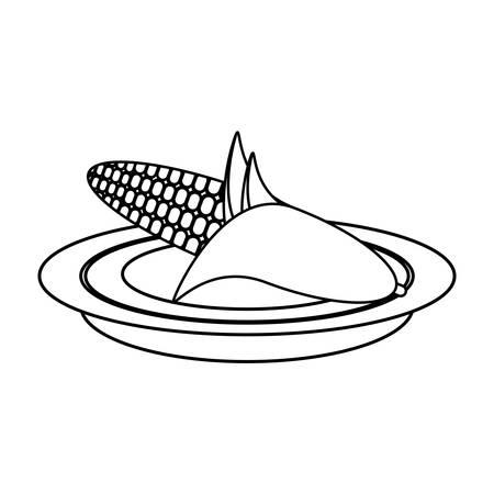 Fresh corn vegetable icon vector illustration graphic design