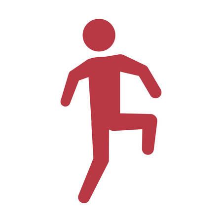 Male pictogram symbol icon vector illustration graphic design