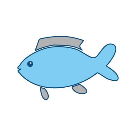 fish tail: Fish sea animal icon vector illustration graphic design