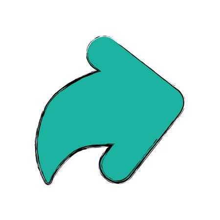 redo: Arrow pointing right icon vector illustration graphic design