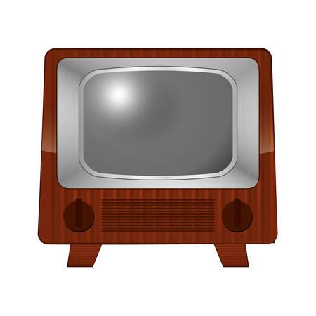 movie film: vintage television icon over white background. colorful design. vector illustration
