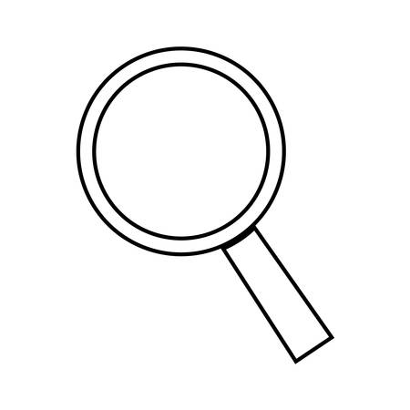 inspector: magnifying glass icon over white background. vector illustration
