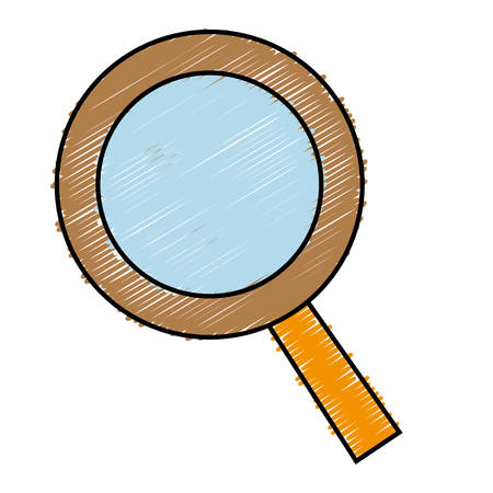 Magnifying glass icon over white background. vector illustration